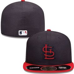 e6f4f371fd8 St. Louis Cardinals New Era MLB Diamond Tech 5950 Fitted Hat (Black)  Baseball