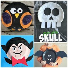Here are some awesome paper plate halloween crafts for kids to make! Find witches, ghosts, cats, pumpkins, spiders, and more!