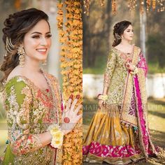 Mehndi Photoshoot of Nimra Khan Pakistani Mehndi Dress, Pakistani Party Wear Dresses, Bridal Mehndi Dresses, Asian Bridal Dresses, Beautiful Pakistani Dresses, Shadi Dresses, Pakistani Wedding Outfits, Pakistani Bridal Dresses, Indian Bridal Outfits