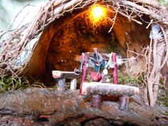 Hammock Haven Faerie Camp by Faeriearthart on Etsy, $35.00