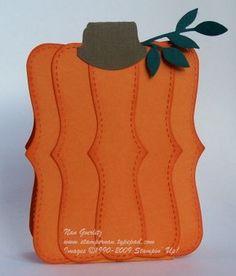 Cool pumpkin card using the Top Note die,