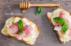 Pear and Prosciutto Bruschetta with Honeyed Ricotta | 29 Delicious Ways To Eat More Pears