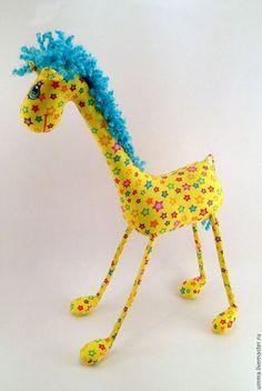 Игрушки животные, ручной работы. Ярмарка Мастеров - ручная работа. Купить Жираф Жорик  )). Handmade. Разноцветный, забавный подарок