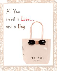 Ted Baker Bags are to die for, get your very own Ted Bakers at Pout!