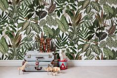 Behang van Rebel Walls #groen #natuur #jungle #planten