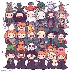 HP character with their pets