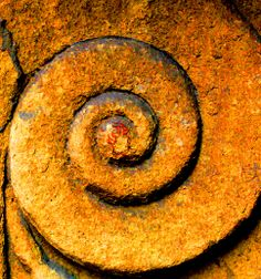 The spiral of time. The spiral signifies the temporal order. HC  (Rusty corbelle)