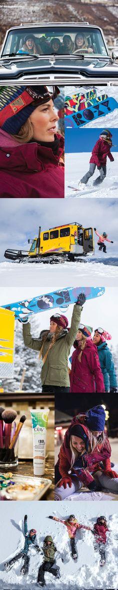 #SurfToSnow A Roxy Team Adventure with Olay Fresh Effects!