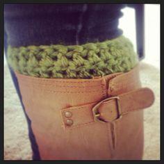 DIY crochet boot cuffs