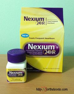 My experience with Nexium 24HR. Personal review - For the love to