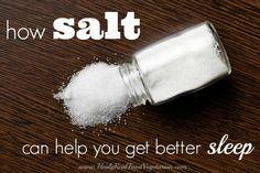 How Salt Can Help You Get Better Sleep @ Healy Real Food Vegetarian