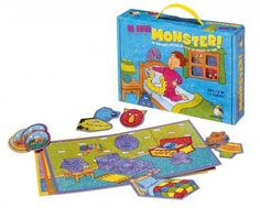 Gamewright : Go Away Monster™ - ages 3+ - 1-4 players - 15 min playing time - no reading required - reinforces shape identification, cooperation