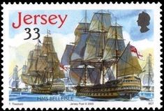 Postage Stamps - Jersey - Battle of Trafalgar Ship Paintings, Stamp Catalogue, Postage Stamps, Sailing Ships, Battle, Album, Vintage, Seals, Boats