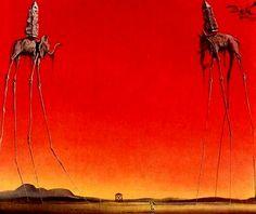 dali | The Elephants by Salvador Dali,1948