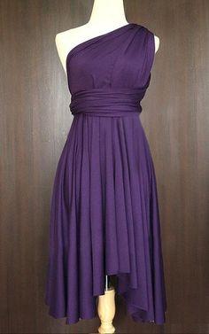 Grape Bridesmaid Convertible Wrap Dress