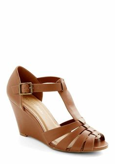 I would wear these everyday in the Spring.  Only $34 and the wedge is super supportive for high arches like mine.