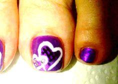 Toe Art... Nail Polish & Gel Polish combination. :) How To Do Nails, Gel Polish, Beauty And The Beast, Toe, Gel Nail Varnish, Finger, Nail Polish