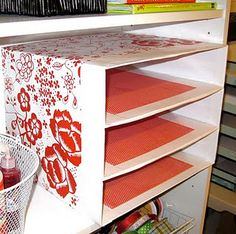 Make paper sorters from used boxes and decorative paper rather than new wood or plastic, much cheaper!