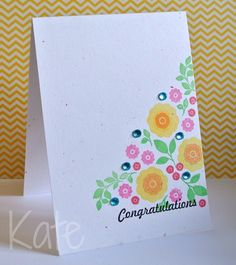 Congratulations card...just beautiful, using Folk Art Florals