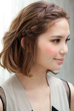 trenza diadema para cabello corto