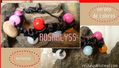 Las Manualidades de Roshalyss: pulsera-verano de colores