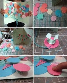 Create a balloon card and banner diy birthday diy ideas diy crafts may take some time but how amazing would this turn out anyone would love to receive this solutioingenieria Gallery