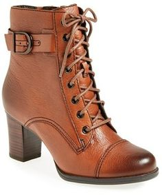 $179, Clarks Jolissa Gypsum Boot. Sold by Nordstrom. Click for more info: https://lookastic.com/women/shop_items/64475/redirect