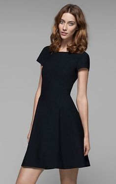Elex Virginwool Dress - Theory.com  ...wish this were black instead of navy, though.