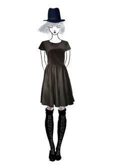Dark grey cotton velvet dress Roman Holiday, Cotton Velvet, Dark Grey, Collection, Vintage, Dresses, Vestidos, Vintage Comics, Dress