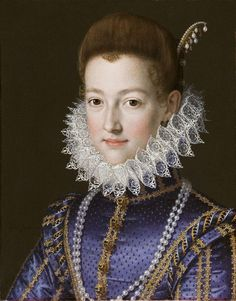 Portrait of Cristina di Lorena, Grand Duchess of Tuscany, (1565 – 1637) by Scipione Pulzone (1542-1598)