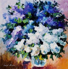 LOVELY LILACS - PALETTE KNIFE Oil Painting On Canvas By Leonid Afremov - http://afremov.com/LOVELY-LILACS-PALETTE-KNIFE-Oil-Painting-On-Canvas-By-Leonid-Afremov.html?utm_source=s-pinterest&utm_medium=/afremov_usa&utm_campaign=ADD-YOUR