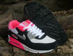 Nike Air Max 90 Womens Shoes Gray Black Pink Silver Special 0