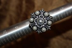 The Black Crystal Brooch Ring on Etsy, $12.00 #gift #steampunk #jewelry