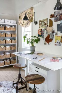 ORC Week The Ultimate She-Shed Reveal! – Home Glow Design - sheddesign Studio Hangar, She Shed Decorating Ideas, Shed Office, Tiny Office, Shed Interior, Interior Ideas, Townhouse Interior, Interior Design, Craft Shed
