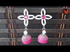 Quilling Earrings / Quilling Jhumka Tutorial Hello all, Welcome to Creative V Channel, here you can watch and learn how to . Paper Bracelet, Paper Earrings, Clay Earrings, Crochet Earrings, Quilling Necklace, Foam Sheet Crafts, Plastic Canvas Coasters, Foam Sheets, Quilling Cards