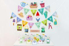 Gardening Birthday Party - DIY Party Printable, Gardening Photo Booth Props  | Creative Sense Co  #garden #gardening #gardener #decorations #creativesenseco #diy #craft #party