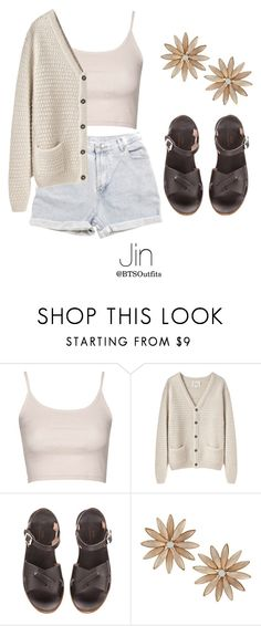 """Picking Fruit with Jin"" by btsoutfits ❤ liked on Polyvore featuring Levi's, Topshop, La Garçonne Moderne, A.P.C. and R.J. Graziano"