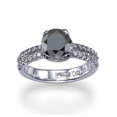 Bohemian Black Diamond Engagement Rings Organic 13