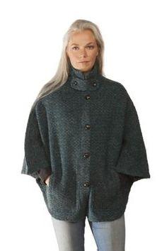 - Icelandic Magga Cape - Green - Icelandic Design - Nordic Store Icelandic Wool Sweaters