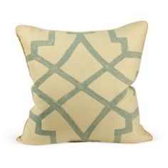 Check out this item at One Kings Lane!  Fretwork Wedgewood Pillow