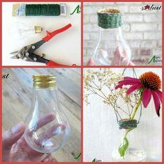 Μετατρέψτε τις καμμένες σας λάμπες σε διακοσμητικό βάζο για λουλούδια.