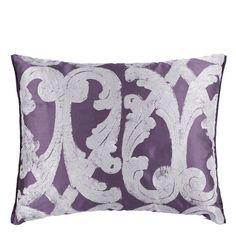 Portico Plum Throw Pillow | Designers Guild