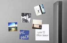 Instagram a la nevera o un collage en una pared amb pintura imantada...