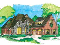 Eplans French Country House Plan - elevator  Beautiful European Courtyard Home - 3231 Square Feet and 3 Bedrooms(s) from Eplans - House Plan Code HWEPL14818