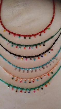 My summer jewelry Seed Bead Jewelry, Beaded Jewelry, Handmade Jewelry, Bridal Jewelry, Diy Schmuck, Schmuck Design, Bijoux Diy, Summer Jewelry, Beads And Wire