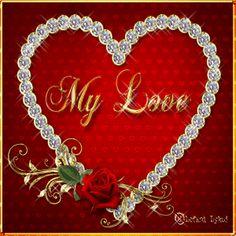 Valentine Diamond Heart gif by lefkoilykoi Love Heart Images, Love You Images, I Love Heart, Love Pictures, Pictures Images, I Love You Hubby, My True Love, My Love, Valentines Gif