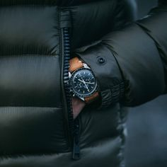 Omega Speedmaster Professional on hodinkee hand-made leather strap. Available right here for $149. (via uncrate)