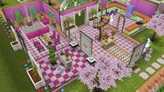 My Sims Free Play - Barbie's House: First floor (2/5)