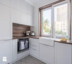 Mieszkanie w Warszawie - Kuchnia, styl nowoczesny - zdjęcie od wz studio small white kitchen | design | classic | modrn | patchwork