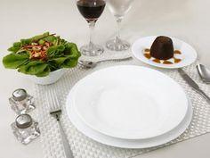 Aparelho de Jantar 16 Peças Duralex - Vidro Redondo Branco Opaline